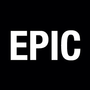 White text 'EPIC' on a black background