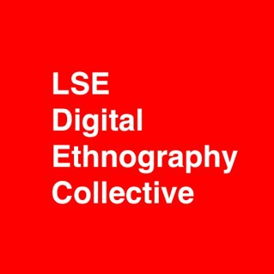LSE digital ethnography collective in white text on a red background